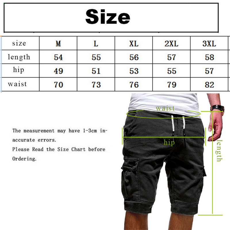 2019 Shorts Men Summer Casual Shorts Streetwear Men 39 s Cargo Multi pocket Shorts Solid Color Drawstring Fashion Shorts in Casual Shorts from Men 39 s Clothing