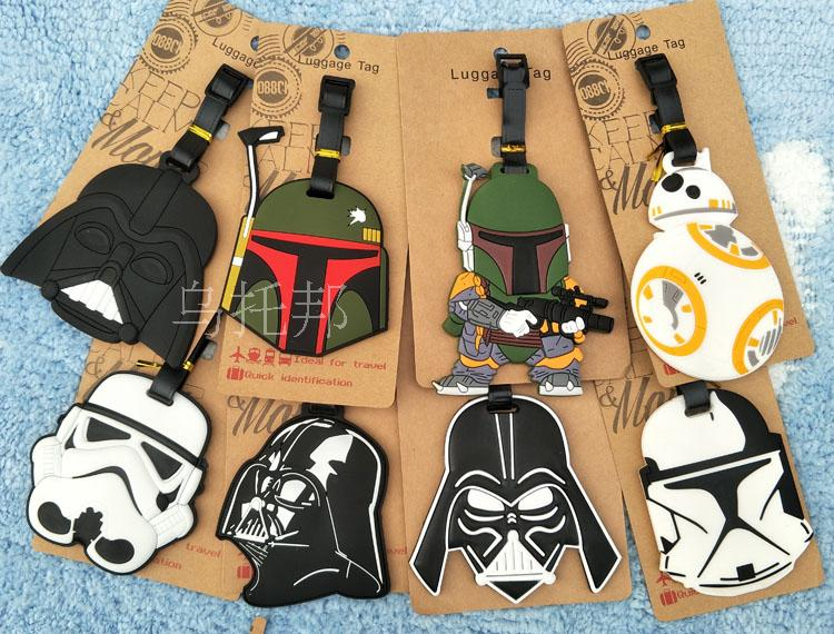 Star wars Luggage Tag Popeye PVC Pendants Portable Travel Label Fujiya Co milk girl Suitcase ID Address Holder tags
