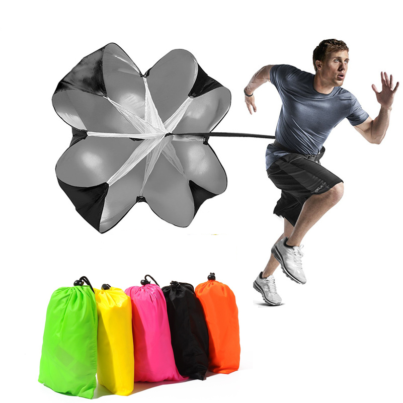 145cm * 145cm 산소 저항 훈련 낙하산 주행 낙하산 풋볼 운동 물리적 인 힘 속도 지구력 장비