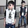 2017 new Winter Boys Kids  PU leather Baseball uniform Jacket  Clothes outerwear coats for children 3-14yers 3 Color