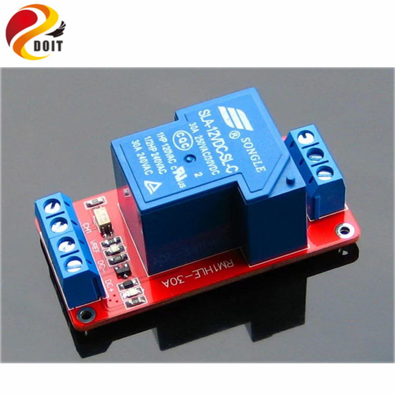 4pcs 1 Channel 30A Relay Module Optical Coupling Isolation High and Low Average Electricity Trigger 5V 12V 24V raspberry pi fc 16 b 1 channel 24v relay module blue