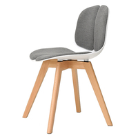 Modern Simple Style Household Ergonomics Computer Chair with Backrest Wooden Dining Chair Creative Leisure Restaurant Chair
