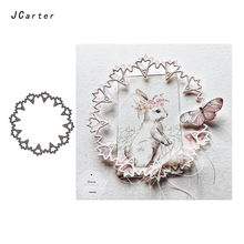 JC Metal Cutting Dies for Scrapbooking Craft Hollow Circle Flower Decoration Cut Stencil Handmade Paper Card Making Model