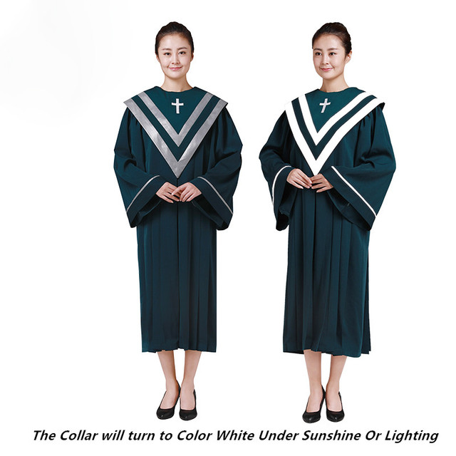 487d7966d6ea 4 Seasons Unisex You Pick Choir Robe Gown Church Singing Green Costume  Sabbath Anthem Party Outfit Church Service Vestmen