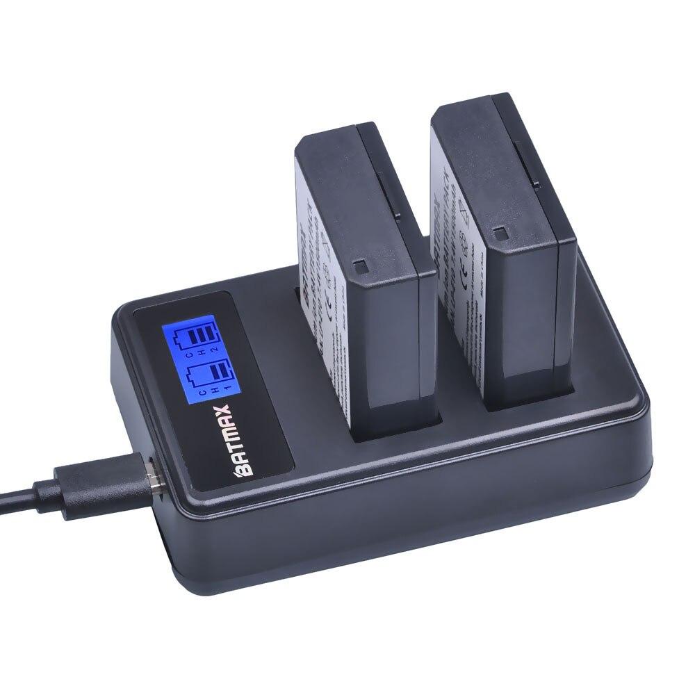 2x 1500mAh LP E10 LPE10 LP E10 Camera Battery Bateria LCD Dual USB Charger for Canon