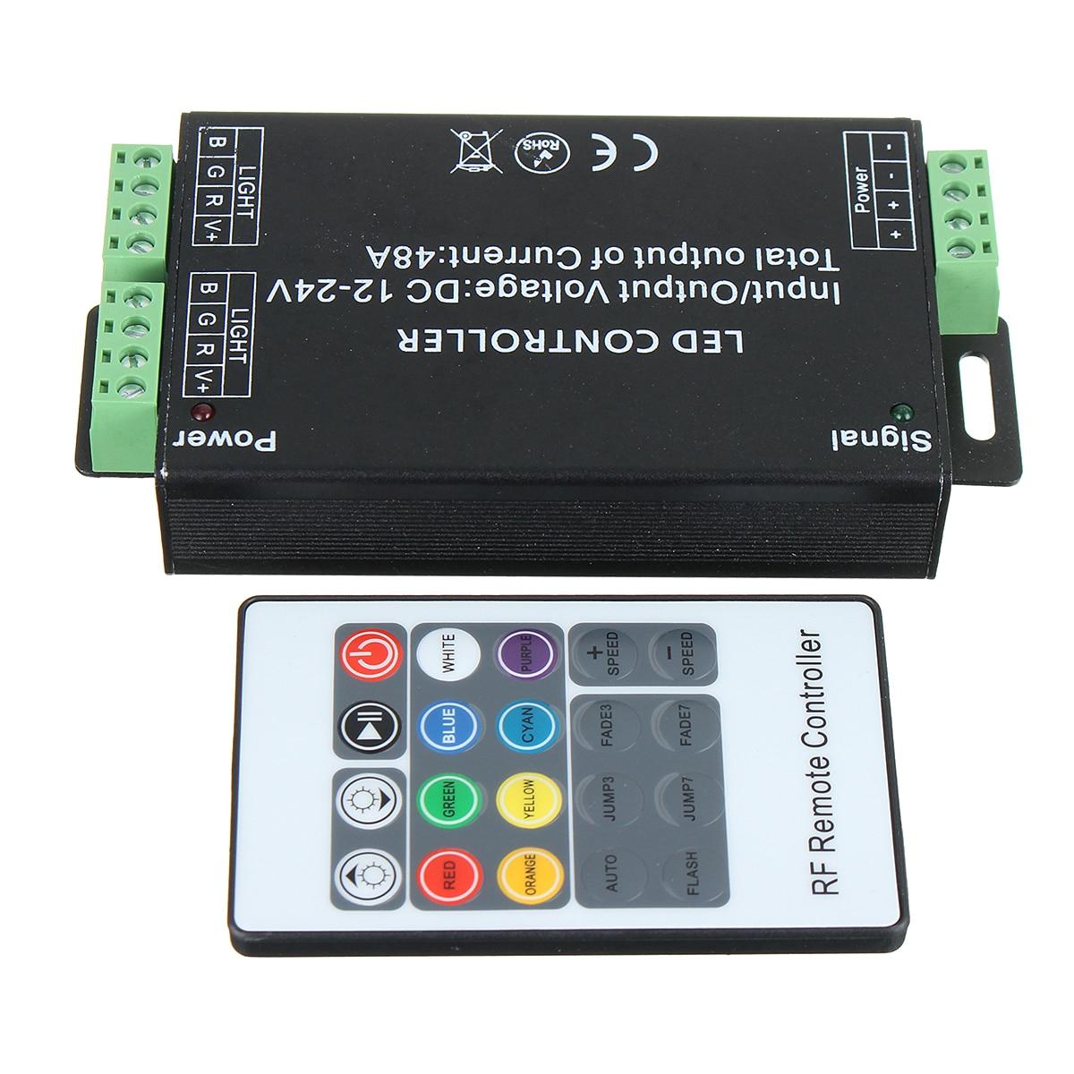 12V-24V DC 20Key 48A RF Remote Controller for RGB LED Strip 5050 3528 SMD HOT
