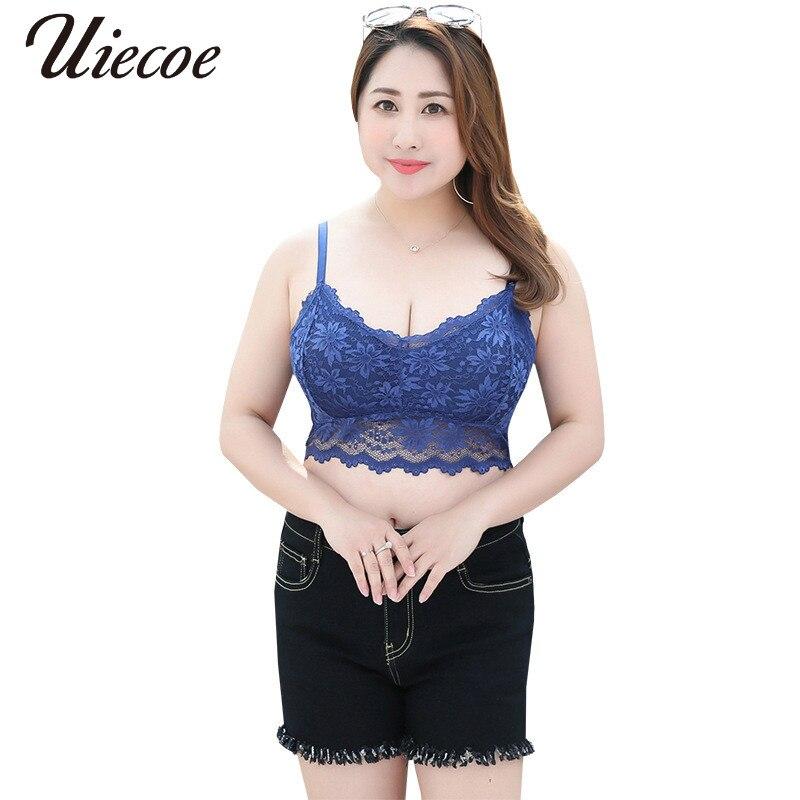 UIECOE Hot Bars For Women Sexy Vest Underwear Bras Lace Bra Mesh Bralette Lingerie Seamless Unpadded Floral Brassiere Women