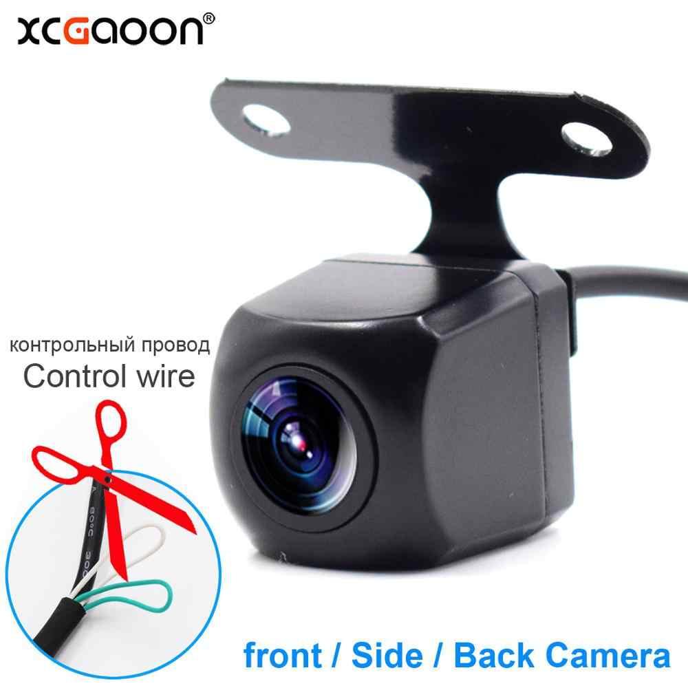 XCGaoon métal CCD voiture avant côté arrière vue caméra 4 lentille en verre Version nocturne étanche grand Angle objectif amélioré pour la nuit