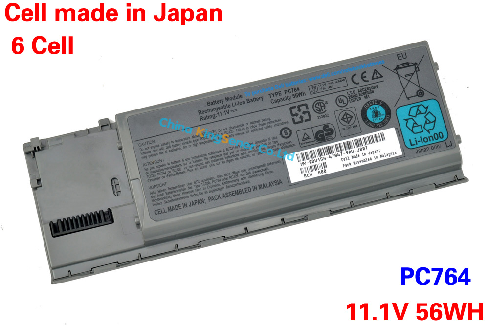 ФОТО 11.1V 56WH Original Genuine New Laptop Battery PC674 for DELL D620 D630 D631 D640 PC764 JD606 TC030 TD175 KD491 6CELLS