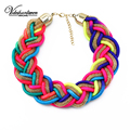 Vodeshanliwen 2015 new design fashion brand Chokers Necklaces colorful statement necklace woman Fashion jewelry