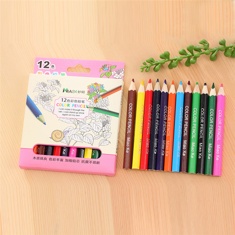 12 Color Small Pencil Painting Pen Color Lead Pencil writing painting Office Stationery pencils gifts for students New S30
