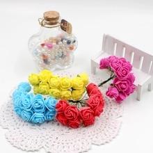 12pcs lot font b Valentine b font Gift Artificial Rose bouquet Flower for wedding party home