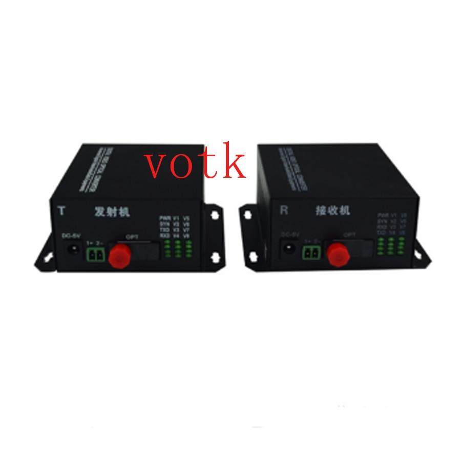 8 V vidéo numérique Vidéo Optique 8CH convertisseur pur FC fiber unique multimode vidéo sur un 20 KM 1 paire/lot