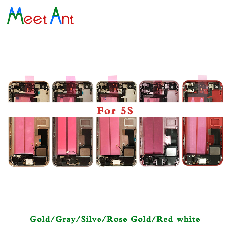 10Pcs High Quality For iphone 5 5G 5S Back Middle Frame Chassis Full Housing Assembly Battery