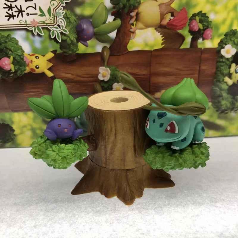 8 ピース/セットナキウサギ Mokurah セレビィフシギダネ pkm アニメ図林木の家森アクションフィギュアコレクションモデルのおもちゃ