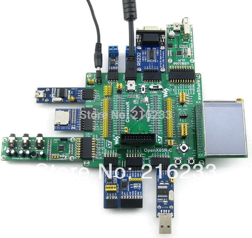 module ARM Cortex-M4 STM32F405 STM32 Development Board STM32F405RGT6 + 11 Accessory Modules Kits = Open405R-C Package B black plastic ads iar stm32 jtag interface jlink v8 debugger arm arm7 emulator cortex m4 m0