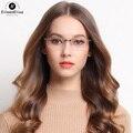 EE Новый Titanium Очки Рамки Мужчины Мода Половина Очки Без Оправы Рецепт Titanium Очки Оптического Кадр Óculos Де Грау