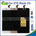 Original ZTE Blade X3 D2 T620 LCD Display Touch Screen Digitizer Assembly Replacement Parts Black/White/Gold+ Tools + Adhesives
