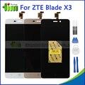 Zte blade x3 d2 t620 original lcd screen display toque digitador assembléia peças de reposição preto/branco/ouro + ferramentas + adesivos