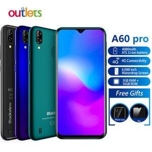 Смартфон Blackview A60 Pro, MTK6761, 3 ГБ, 16 ГБ, Android 9,0, 4080 мАч, сканер отпечатка пальца и лица, 4G мобильный телефон