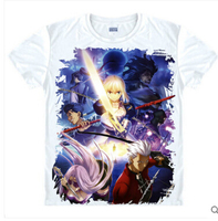 Anime Fate Stay Night Saber Clothing Short Sleeve Sport T Shirt Print Princess Combat Tshirt Tee