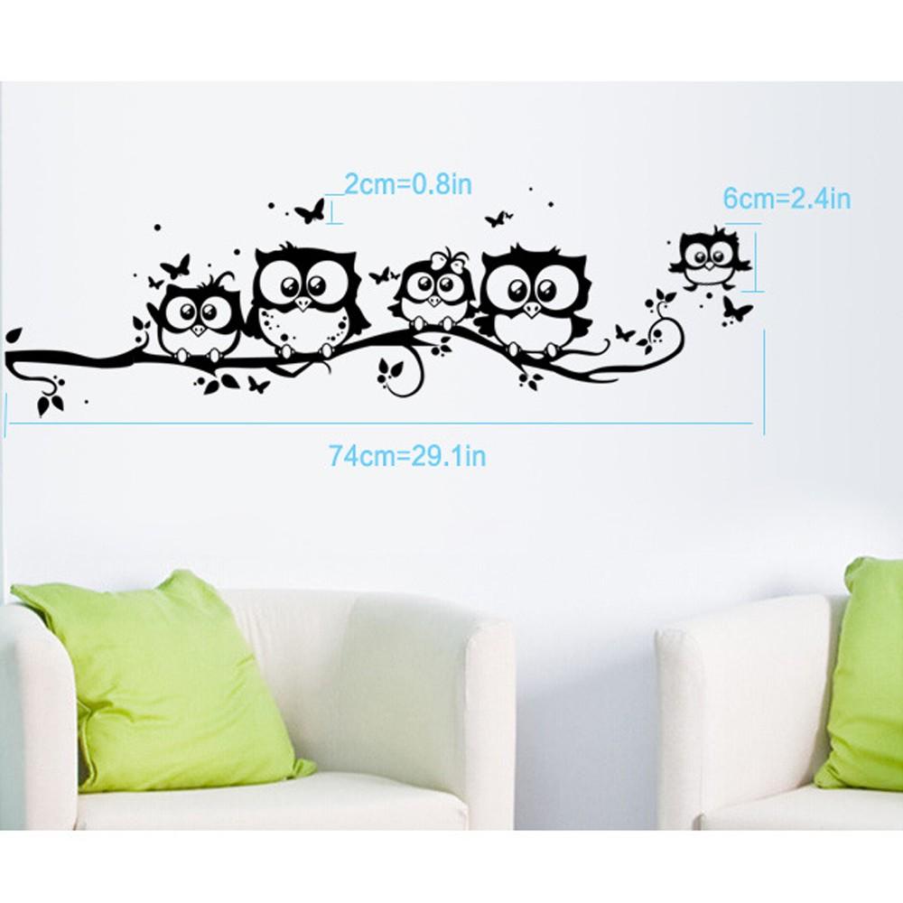HTB1BjttQFXXXXXTaXXXq6xXFXXX2 - tree animals Butterfly Wall Stickers