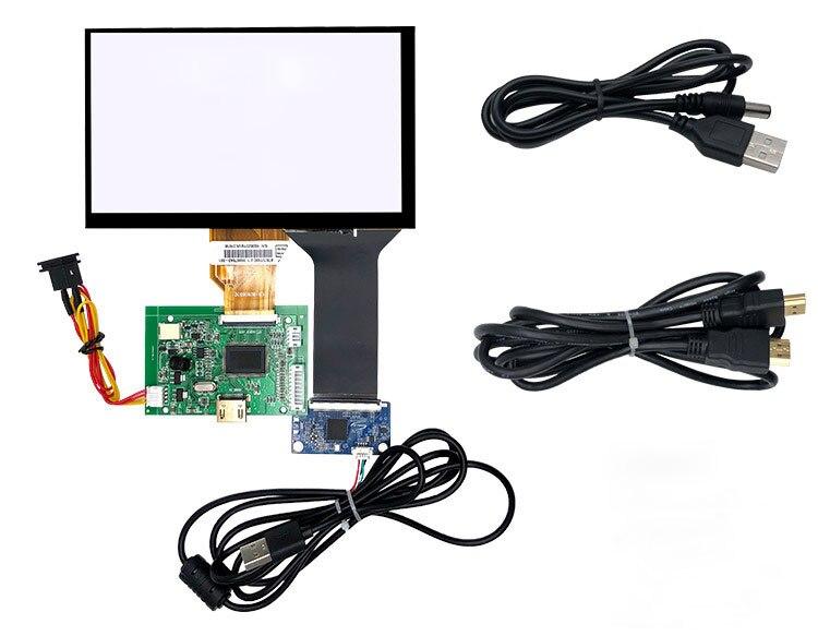 7 pouces TFT IPS LCD écran toutch 1204x600 800x600 moniteur pour Raspberry pi DIY module kit