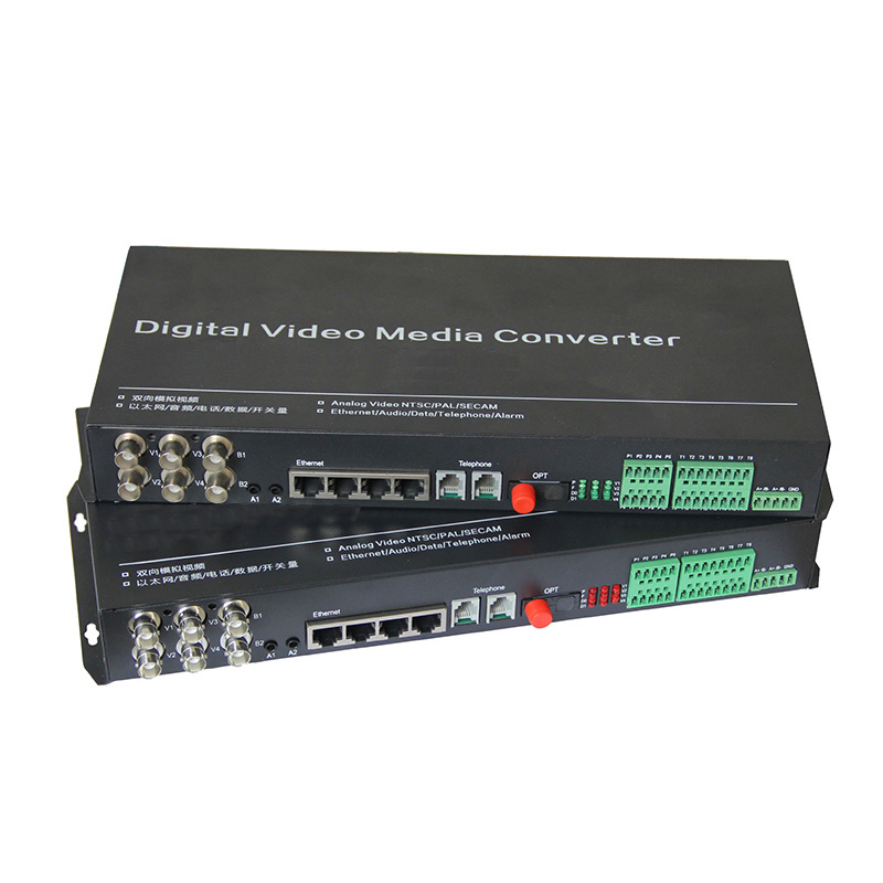Fiber Optic  Bi-Directional Video Audio  Data Alarm Ethernet  Digital Transmitter & Receiver Single Mode  FC 20KM For CCTV