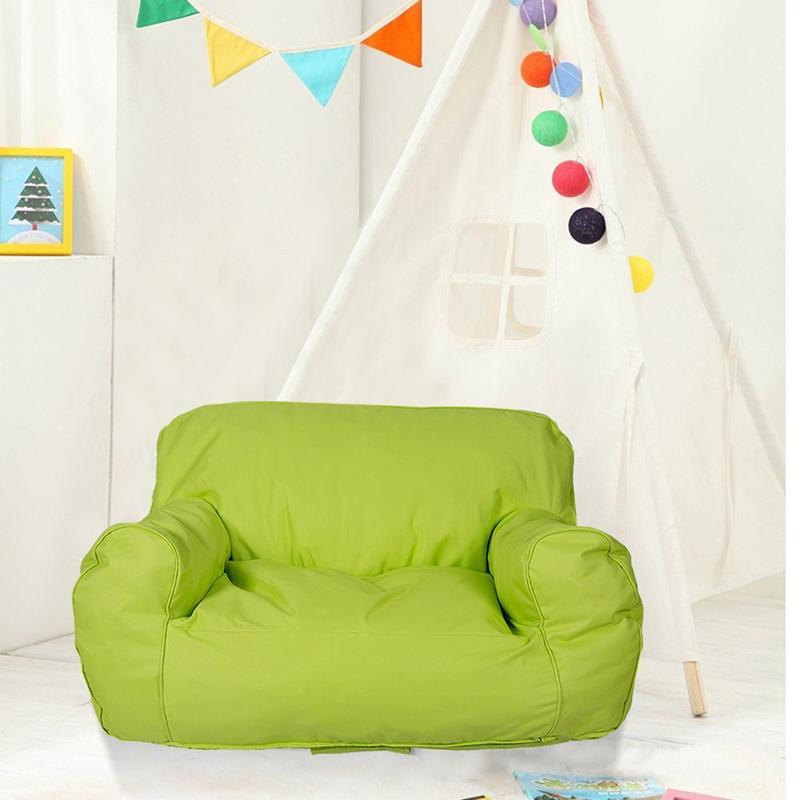 Us 51 59 14 Off Aliexpress Comfort Self Rebound Sponge Double Sofa Chair Covers Child Seat Lounger Bean Bag Kids S Love Children