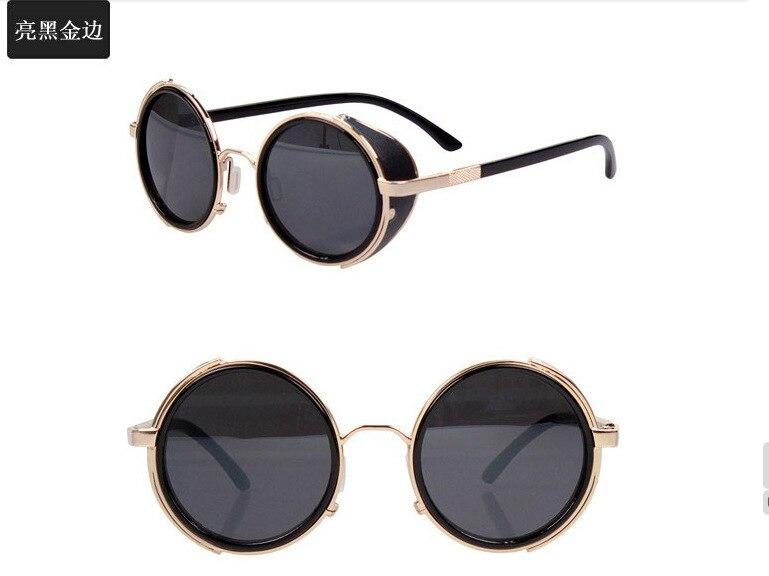 Old School Sunglasses  aliexpress com steam punk side visor circle lens round retro