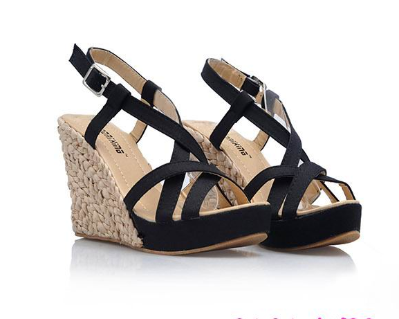 Bohemia Gladiator High Heels Sandals Women 2017 Ankle Strap Summer Platform Wedges Open Toe Shoes Fashion Large Size 43 Hot Sale 2017 women s shoes high heels sandals open toe gladiator sandals ankle strap stappy summer casual sandals for girls hoof heels