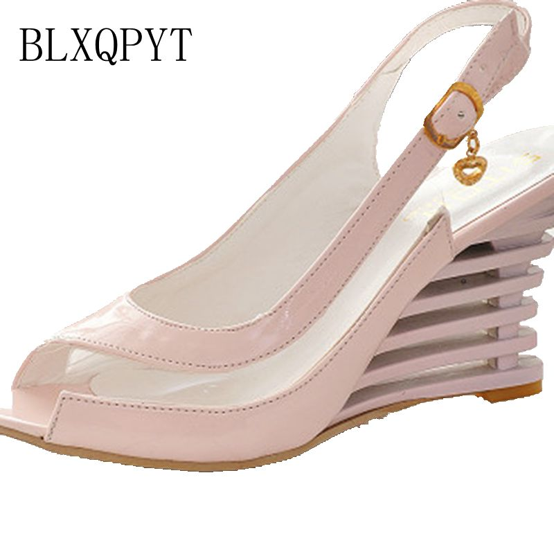BLXQPYT Real Sandalias Mujer Big Plus Size Shoes Women Sandals High Heels Sapato Feminino Summer Style Chaussure Femme 3-2 shoes woman sandals high heels women zapatos mujer sapato feminino sandalias femme ladies summer buckle women s valentine shoes