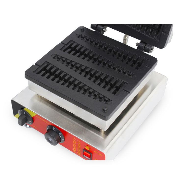220V/110V electric stainless steel commercial use fish lolly waffle maker machine waffle on a stick kitchen appliance