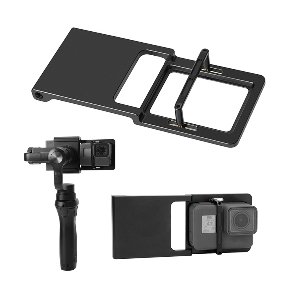Handheld Gimbal Adapter Switch Mount Plate for GoPro Hero 7 6 5 4 3 for Xiaoyi 1 Yi for DJI Osmo Zhiyun Smooth Q Mobile