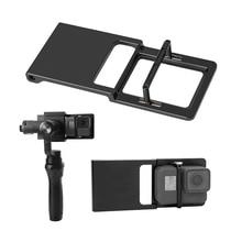 Handheld Gimbal Adattatore Interruttore Piastra di Montaggio per GoPro Eroe 7 6 5 4 3 per Xiaoyi 1 Yi per DJI osmo Zhiyun Liscia Q Cellulare