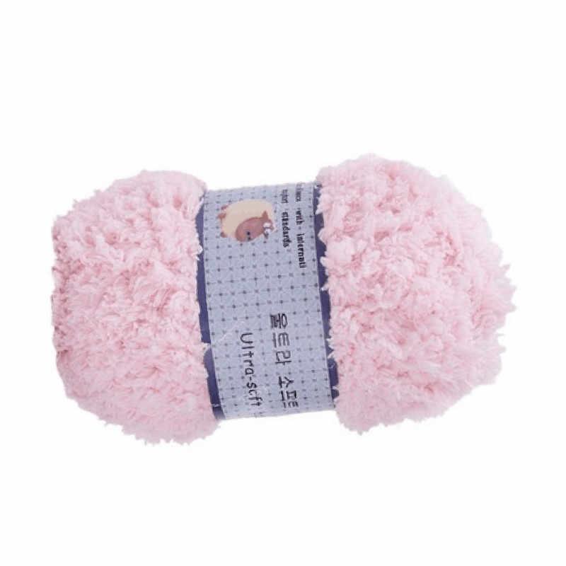 De bebé de lana de Coral niños lana mano toalla tejida bufandas niños niñas bufanda cálido Color caramelo cómodo tejido de lana