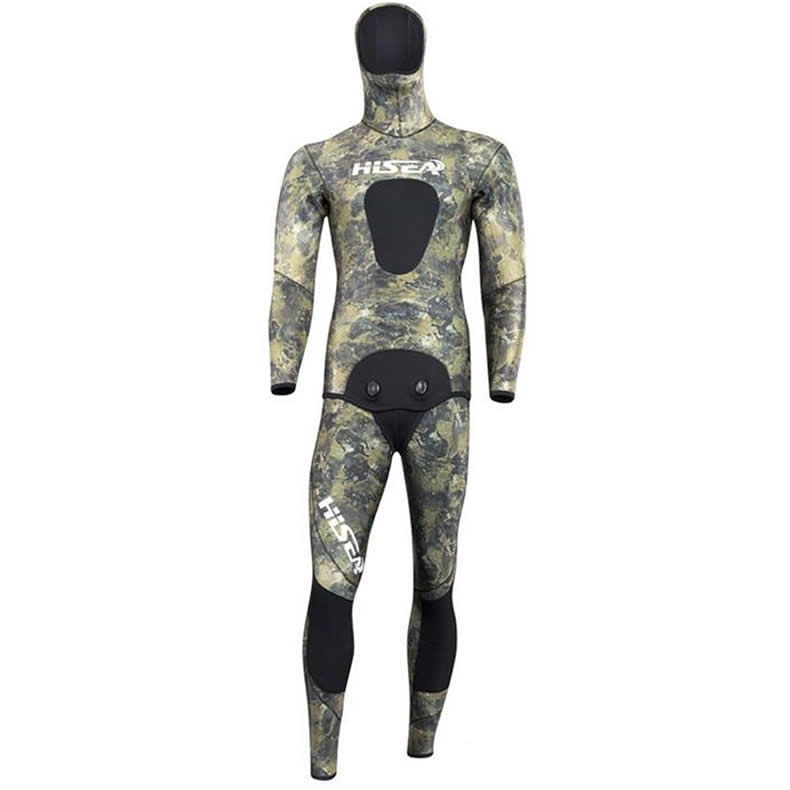 Seac men 7mm neoprene diving suit Two-piece Split wetsuit for Fishing hunting inside material smooth skin green camouflage seac sub ласты seac team красные короткие