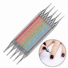 YZWLE 5 шт./упак. инструменты для ногтей Стразы Живопись Кисть для рисования; ручка 2 Way Nail Art расставить комплекс инструмента 15