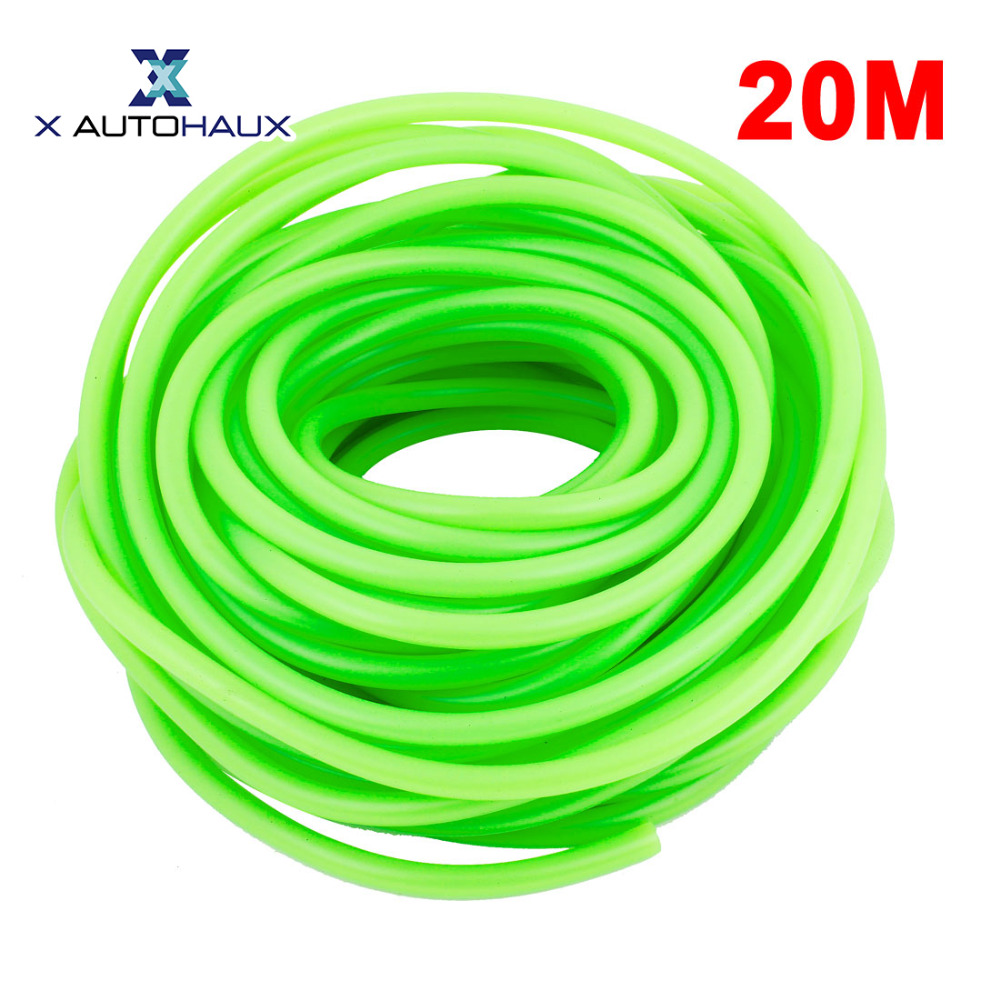 X AUTOHAUX 59Ft Long 5/32 Id Green Fuel Line Scooter Boat Jet Ski Gas Lawn Mover Atv Pocket Dirt Bike