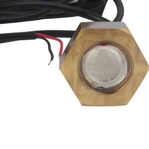 Image 3 - Wasserdichte Messing Unterwasser Licht Blau Weiß 6 W LED Licht Rohr Stecker Lampe 12 V DC