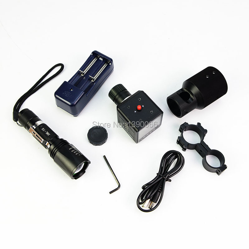 Day & Night Dual use Riflescope Add On DIY Infrared Night Vision Scope with 2 LCD Screen/ Laser Flashlight /25mm Mount