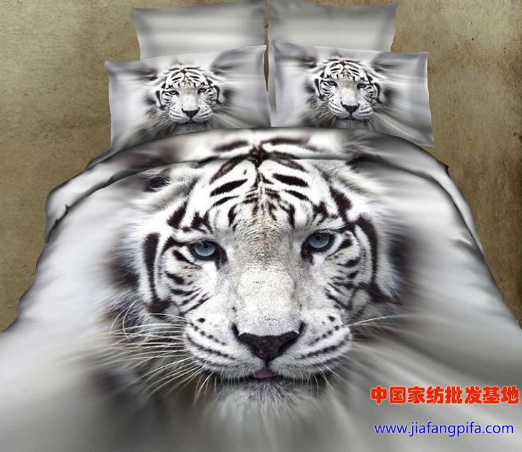 3D 화이트 타이거 침구 세트 퀸 사이즈 이불 이불 커버 시트 침대 가방 침대보 리넨 침대 시트 100 %면 동물 인쇄