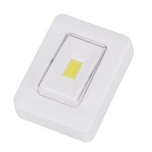 Image 2 - COB التبديل وحدة إضاءة LED جداريّة ضوء الليل ضوء المغناطيسي AAA بطارية تعمل فائقة مشرق لوميناريا مع الشريط السحري لخزانة المرآب