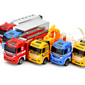 1: 64 deslizante liga de carro veículos de engenharia caminhão modelo caminhão de bombeiros educacional toys para crianças meninos do bebê presente de natal