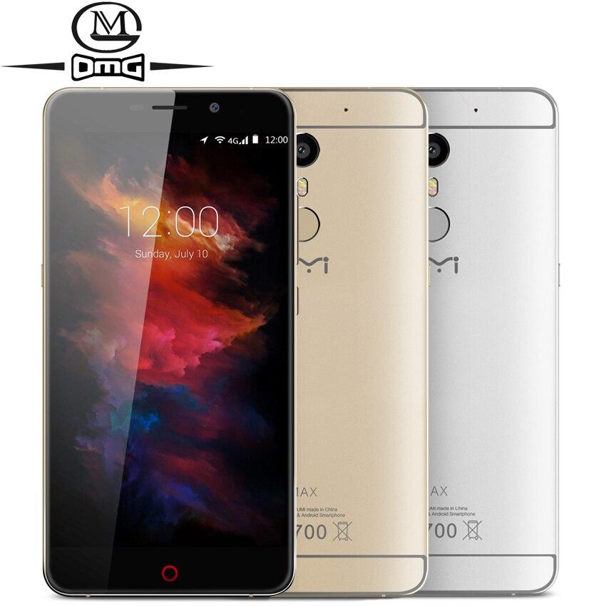 Original UMI MAX smartphone Helio P10 Octa Core 4000mAh Android 6 0 Fingerprint 5 5 4G