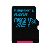 Kingston microSDHC Canvas Go 64GB 4K FHD MICROSDXC TF Memory Card for GoPro Drone (SDCG2/64GBSP)
