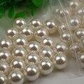 4mm-16mm Shell Beads Cabochão Metade Buraco Rodada Contas Imitação de Pérolas de Moda Acessórios Fazer Jóias Encontrar DIY frete Grátis