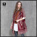 2016 Women Cardigan Sweater Coat Autumn Fringe Code National Style Sub Jacquard Sweater Coat Knitted Long Open Stitch Coat