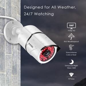 Image 3 - ZOSI 8CH 5MP H.265 + Sistema di Telecamere di Sicurezza (2TB HDD) W/8x HD 5MP(2560x1920) Outdoor/Indoor Night Vision Telecamere di Sorveglianza