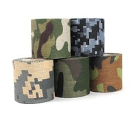 100Rolls Mixed 5M*4.5CM Adhesive Duct Tape Camouflage Waterproof Hunting Camping Stealth Tape Wraps